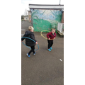 Experimenting with hula-hoops