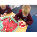 We made poppies to celebrate Rememberance Day