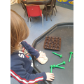 Playdough is a great way to strengthen our finger muscles.