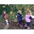 We found numbers hidden in forest school today.
