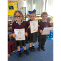 Friday certificates -well done to you all