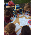 Colouring our Rangoli patterns, great for our fine motor skills.