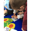 Matching numeral to numbers represented on a tens frame