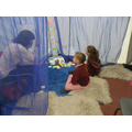 Emily and Paris concentrate in Prayer Space