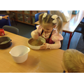 Cooking a Gruffalo cake