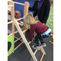 We have been learning to climb safely.