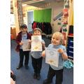 This weeks certificates!