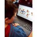 We can change colours and make lines to create pictures.