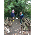 We found story characters at forest school today.