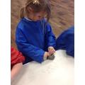 Making clay divas