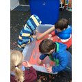 We hadn't great fun pouring and scooping the rice- great for hand eye coordination!