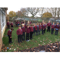 We are very proud of the children in EYFS for taking part in the 2 minute silence.