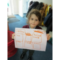 Felicity made her own poster following our topic lesson