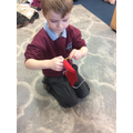 This term we learnt how to sew and made stockings for Christmas