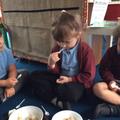 We tried different varieties of porridge, like Goldilocks, we voted on our favorite.