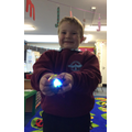 Exploring what happens with light and coloured plastic.