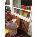 Hunting for numbers outside.