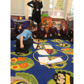 Using venn hoops to sort what we have now/then/both in school