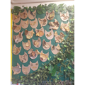We used leaves to make our owl pictures.