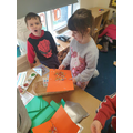 We had great fun using the glitter and gems!