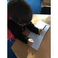 We are working hard to develop our pencil grip and control.