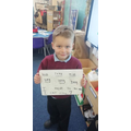 Super early morning spelling and sentence work