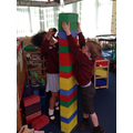 Working together to make a tower