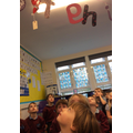 Elvis was hanging from our alphabet!