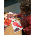 We added ginger to our paint, our classroom smelt very festive!