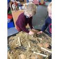 Excavating bones like Mary Anning!