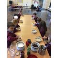 We listened carefully to instructions to make our own porridge like Mummy Bear.