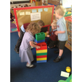 We worked together to measure how tall we are