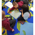 A rainy day game of snakes and ladders