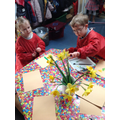 Observational paintings of daffodils.