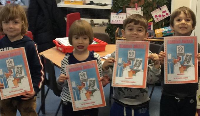Well done for reading 50 times at home! Keep up the good work.