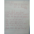 Questions to ask 'Fred', who wrote our class diary WAGOLL