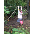 Great hanging! What strength which will help build up important muscles for writing too!
