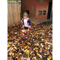 We helped the teachers sweep up and tidy the leaves.