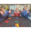 We have learnt j in phonics...so we had to have jelly as a sensory play experience!