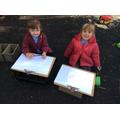 Great marking making girls!