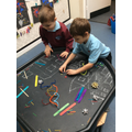 We enjoy using loose parts in our play, it is great for our imagination.