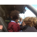 We looked at the sat nav and map