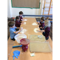 We baked our own bread, just like the Little Red Hen