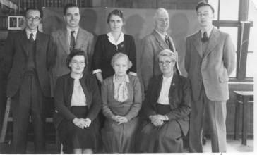 Teachers 1957 (see below for names)