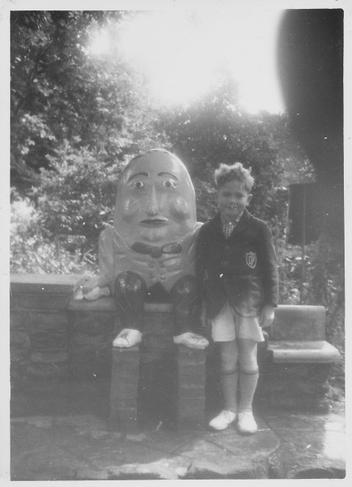 Barry Holmes in a school blazer at Bognor Regis
