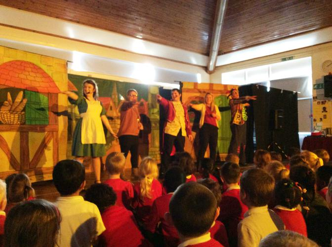 Enjoying a production of 'Beauty and the Beast'