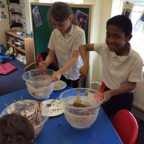 Making our own chocolate bars