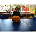 Look at our impressive pumpkin!