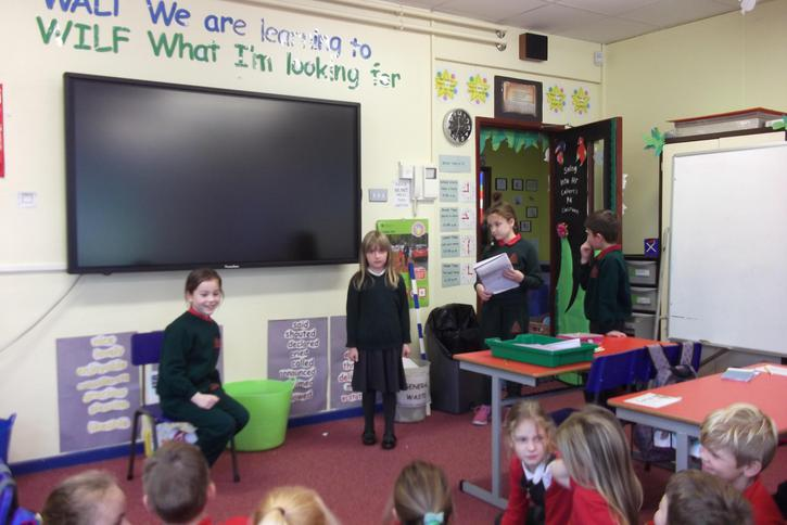 Acting out the stories of Francesca Simon.