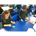 Busy making each of our Christmas baubles........